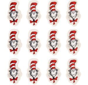 Cat in the Hat Erasers 12ct - Dr. Seuss