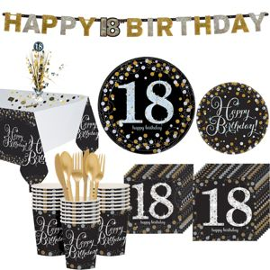 Sparkling Celebration 18th Birthday Party Kit for 32 Guests