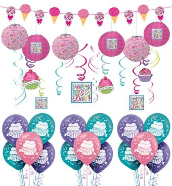 Birthday Sweets Decorating Kit with Balloons