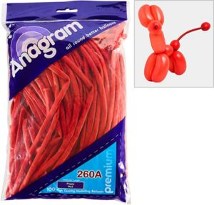 Long Red Twisting Balloons 100ct