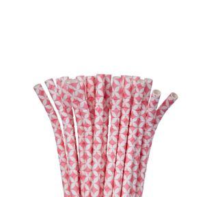 Pink Diamond Flexible Paper Straws 24ct