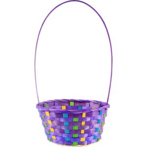 Small Purple Easter Basket