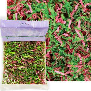 Green & Pink Paper Easter Grass