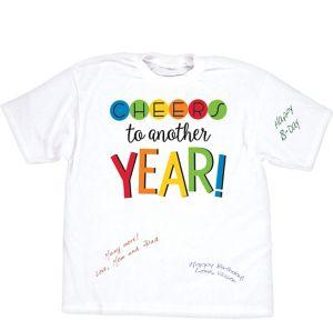 Rainbow Happy Birthday Autograph T-Shirt