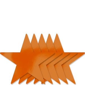 Orange Star Cutouts 5ct