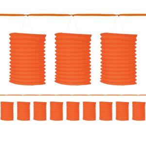 Orange Paper Lantern Garland