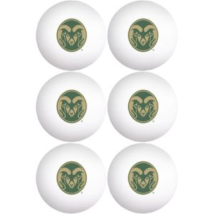 Colorado State Rams Pong Balls 6ct