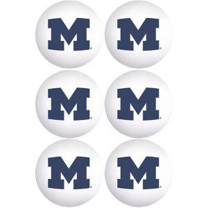 Michigan Wolverines Pong Balls 6ct