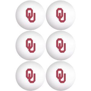 Oklahoma Sooners Pong Balls 6ct