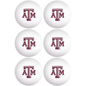Texas A&M Aggies Pong Balls 6ct