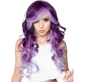 Curly Purple Possession Ombre Cosplay Wig