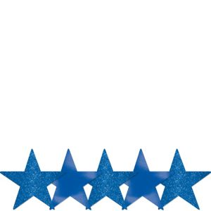 Mini Glitter Royal Blue Star Cutouts 5ct