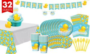 Bubble Bath Baby Shower Tableware Kit 32 guests
