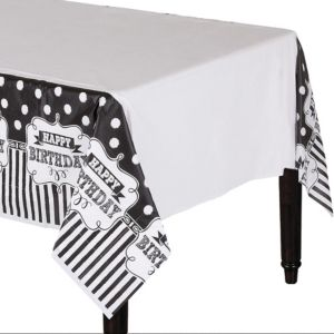 Chalkboard Birthday Table Cover