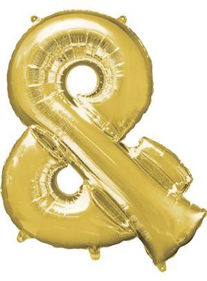 Giant Gold Ampersand Balloon