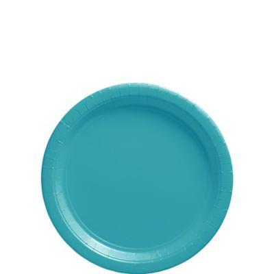 Caribbean Blue Paper Dessert Plates 20ct