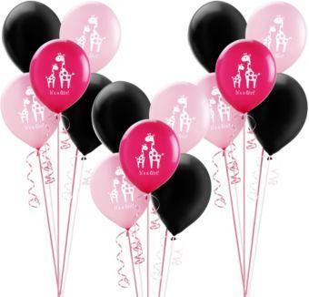 Pink Safari Girl Baby Shower Balloon Kit 30ct