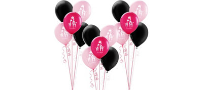 Pink Safari Girl Baby Shower Balloon Kit 30ct