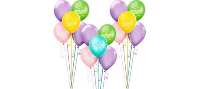 Bright Chevron Baby Shower Balloon Kit 30ct