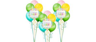 Bright Chevron Baby Shower Balloon Kit 18ct