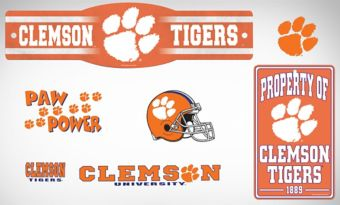 Clemson Tigers Dorm Room Kit
