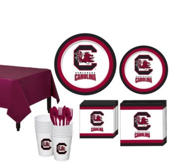 South Carolina Gamecocks Basic Party Kit for 16 Guests