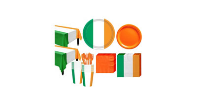 Green, White & Orange Tableware Kit