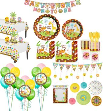 Fisher-Price Jungle Premium Baby Shower Kit for 32 Guests