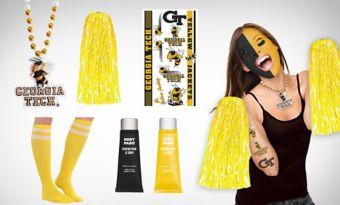 Georgia Tech Yellow Jackets Fan Gear Kit