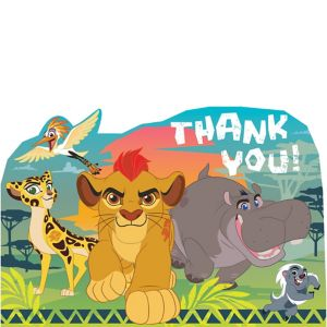 Lion Guard Thank You Notes 8ct