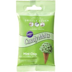 Mint Chocolate Chip Candy Melts Drizzle Pouch