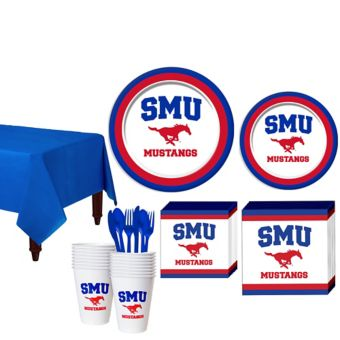 SMU Mustangs Basic Party Kit for 16 Guests