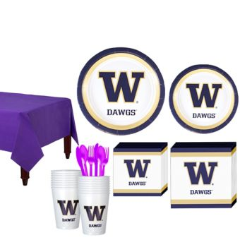 Washington Huskies Basic Party Kit for 16 Guests