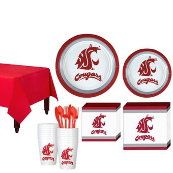 Washington State Cougars Basic Party Kit for 16 Guests