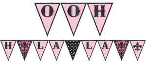 A Day in Paris Pennant Banner
