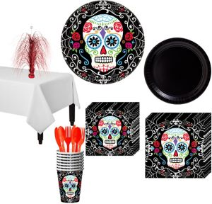 Day of The Dead Deluxe Party Kit