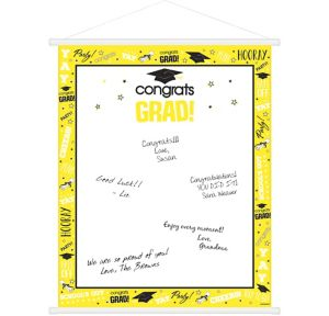 Yellow Graduation Sign-In Sheet
