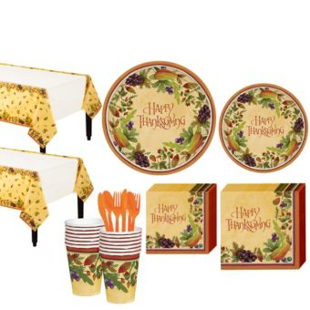 Thanksgving Medley Tableware Kit for 16 Guests
