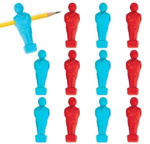 Foosball Pencil Erasers 12ct