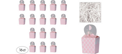 Pink Elephant Deluxe Baby Shower Favor Kit