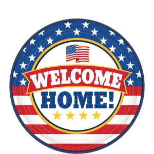 Patriotic Welcome Home Dessert Plates 18ct