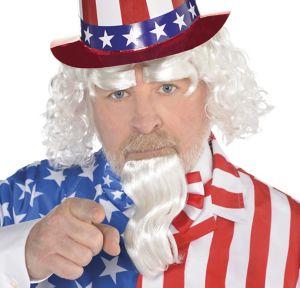 Uncle Sam Wig & Facial Hair Set