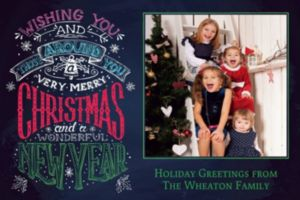Custom Chalkboard Very Merry Wishes Photo Card