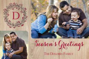 Custom Pine Season's Greetings Collage Photo Card