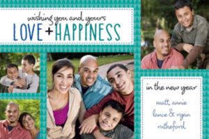 Custom Love & Happiness Collage Photo Card