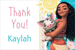 Custom Moana Thank You Note
