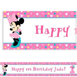 Custom Minnie's 1st Birthday Banner