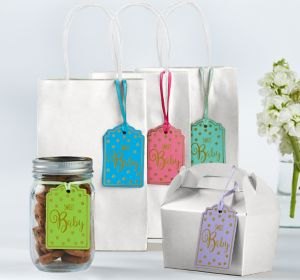 Gender-Neutral Baby Shower Favor Tags 25ct