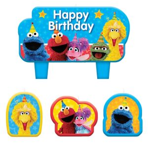 Sesame Street Birthday Candles 4ct