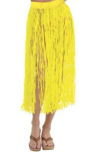 Adult Long Yellow Hula Skirt